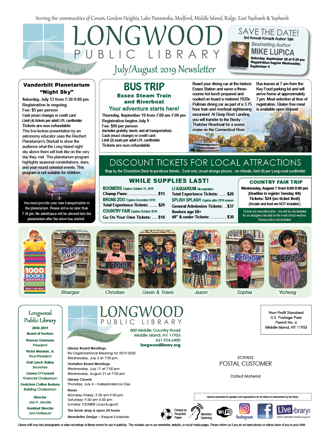 Library Newsletter | Longwood Public Library