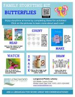 Butterflies Family Storytime Kit