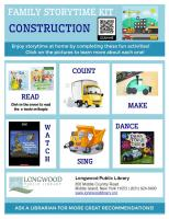 construction family storytime kit